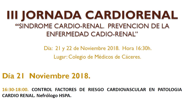 Participación de Neumologia en las III JORNADAS CARDIORRENAL